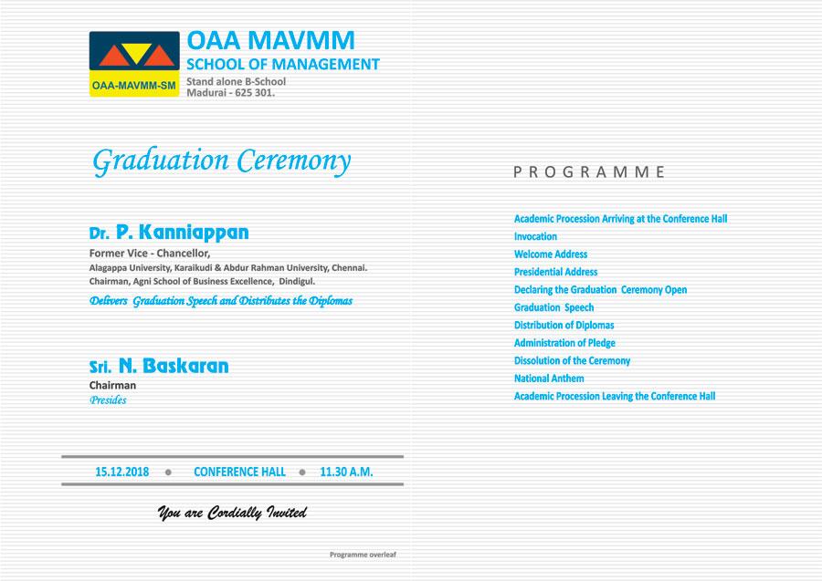Graducation Ceremony 2018 Invitation